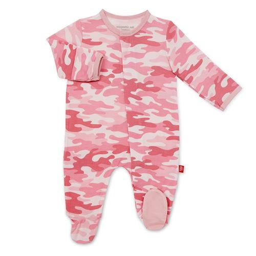 Magnificent Baby Pink Camo Modal Magnetic Footie