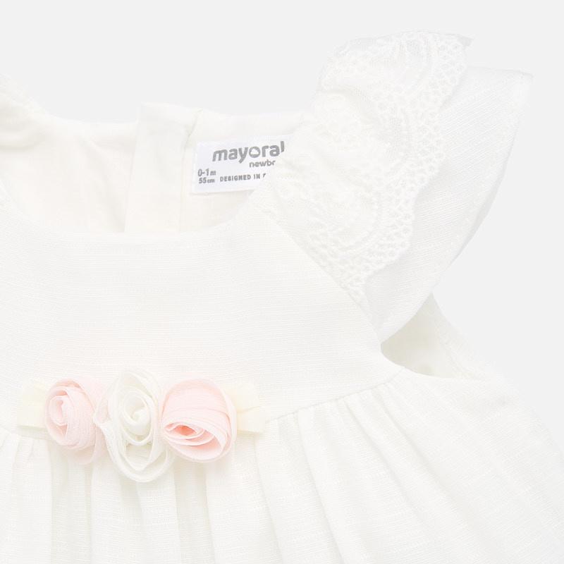 Mayoral Pink/White Rose Dress