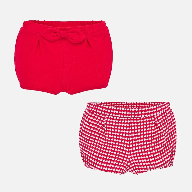 Mayoral Red Two Shorts Set