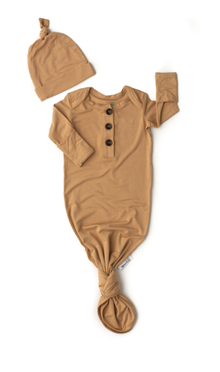 Gigi And Max Camel Gown/Hat