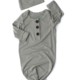 Gigi And Max Light Gray Gown/Hat