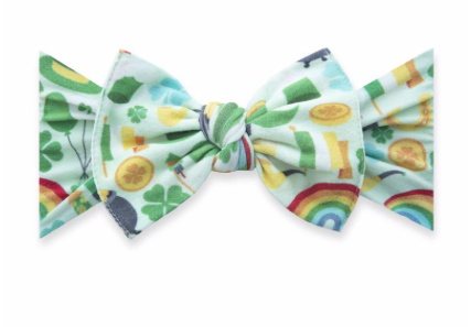 Baby Bling Printed Knot Paddy's Party