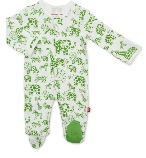 Magnificent Baby Green Gardimal Magnetic Footie