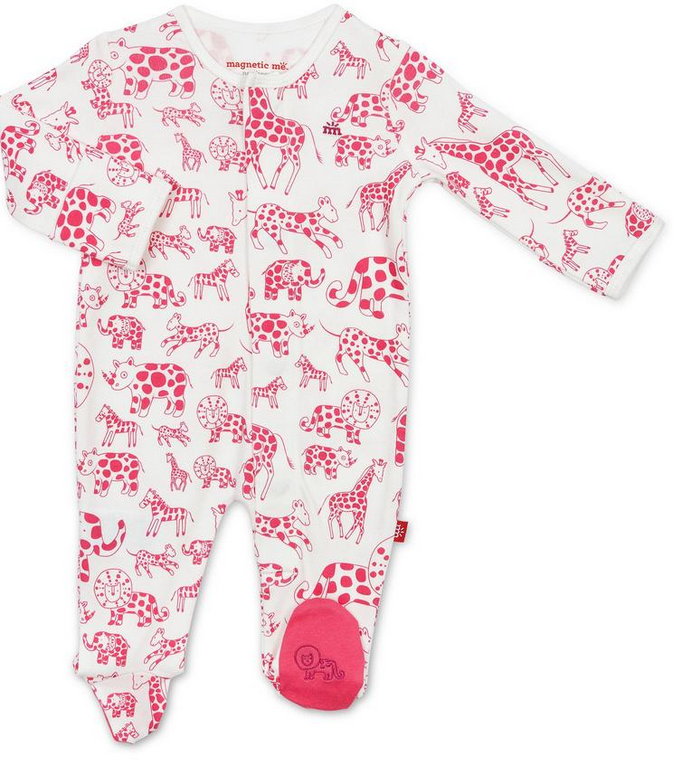 Magnificent Baby Pink Gardimal Magnetic Footie