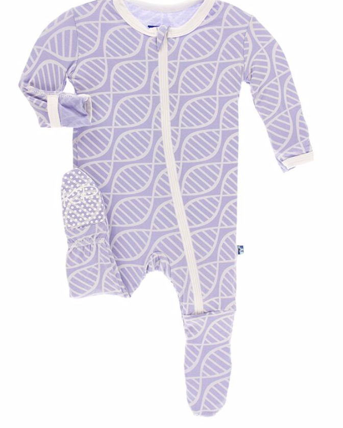 Kickee Pants Lilac Double Helix Footie