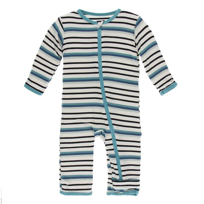 Kickee Pants Neptune Stripe Coverall