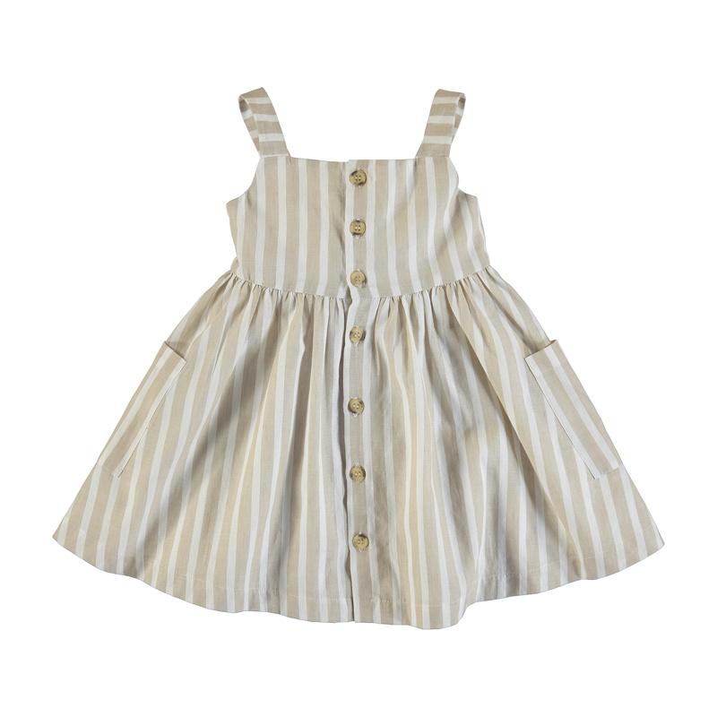 Mayoral Sand Stripe Linen Dress