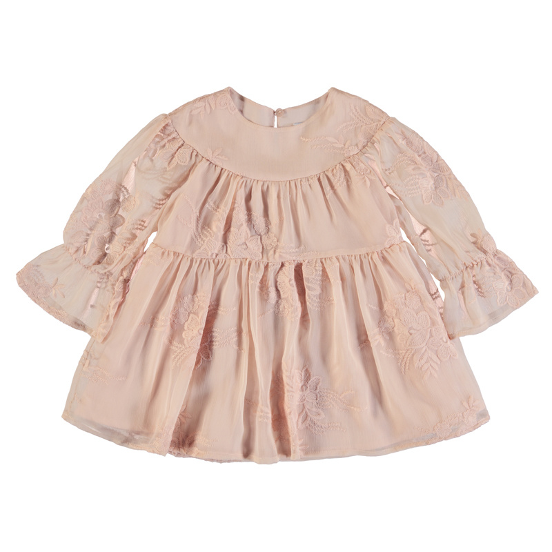 Mayoral Peach Embroidered Dress