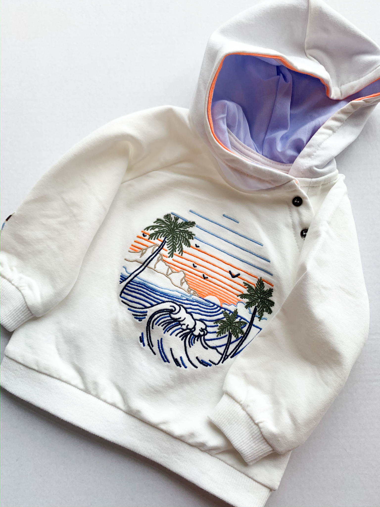 Mayoral Island Embroidered Pullover