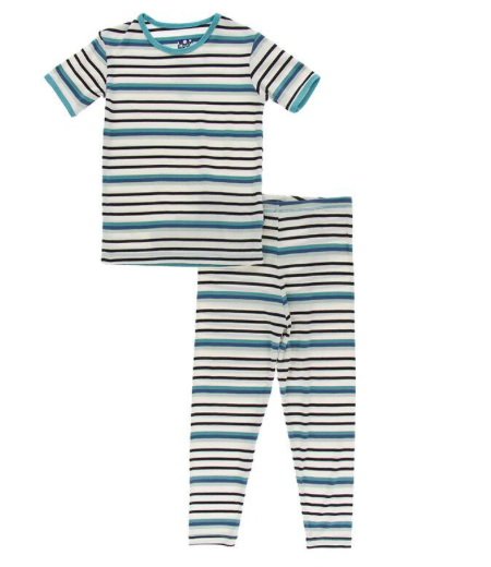 Kickee Pants Neptune Stripe Kid PJ