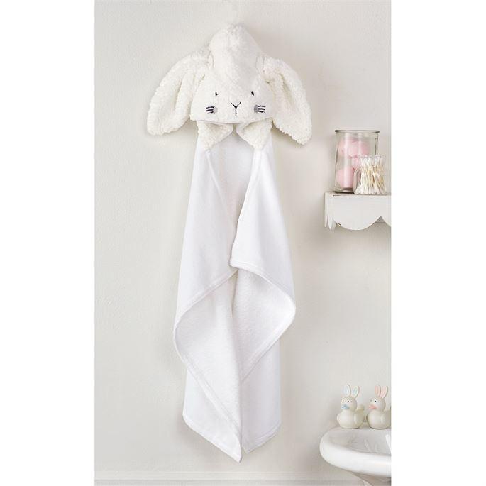 Mudpie Baby Bunny Hooded Towel