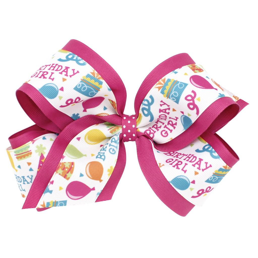 Wee Ones Bows King Birthday Girl Bow