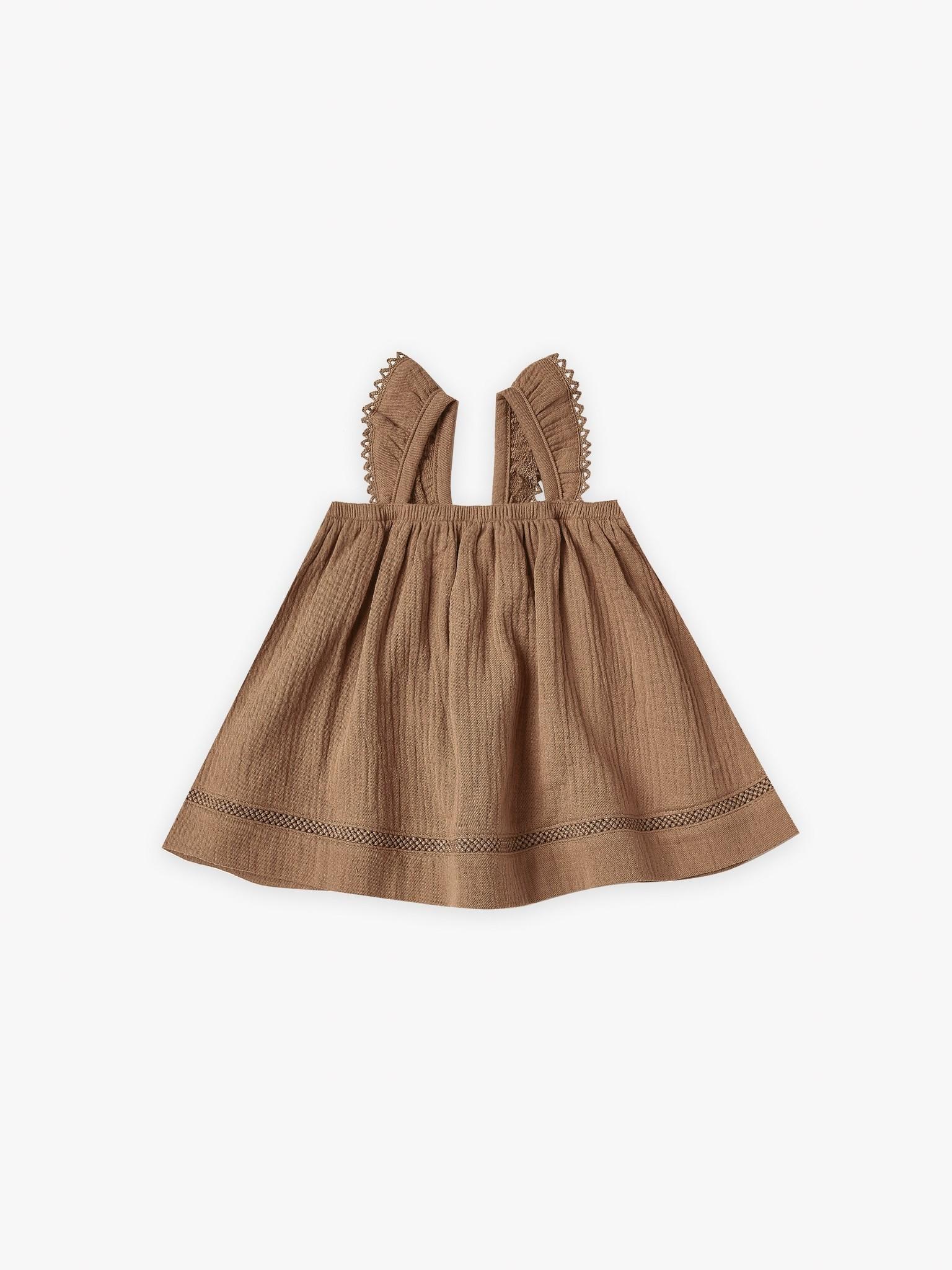 Quincy Mae Ruffled Tube Dress Rust