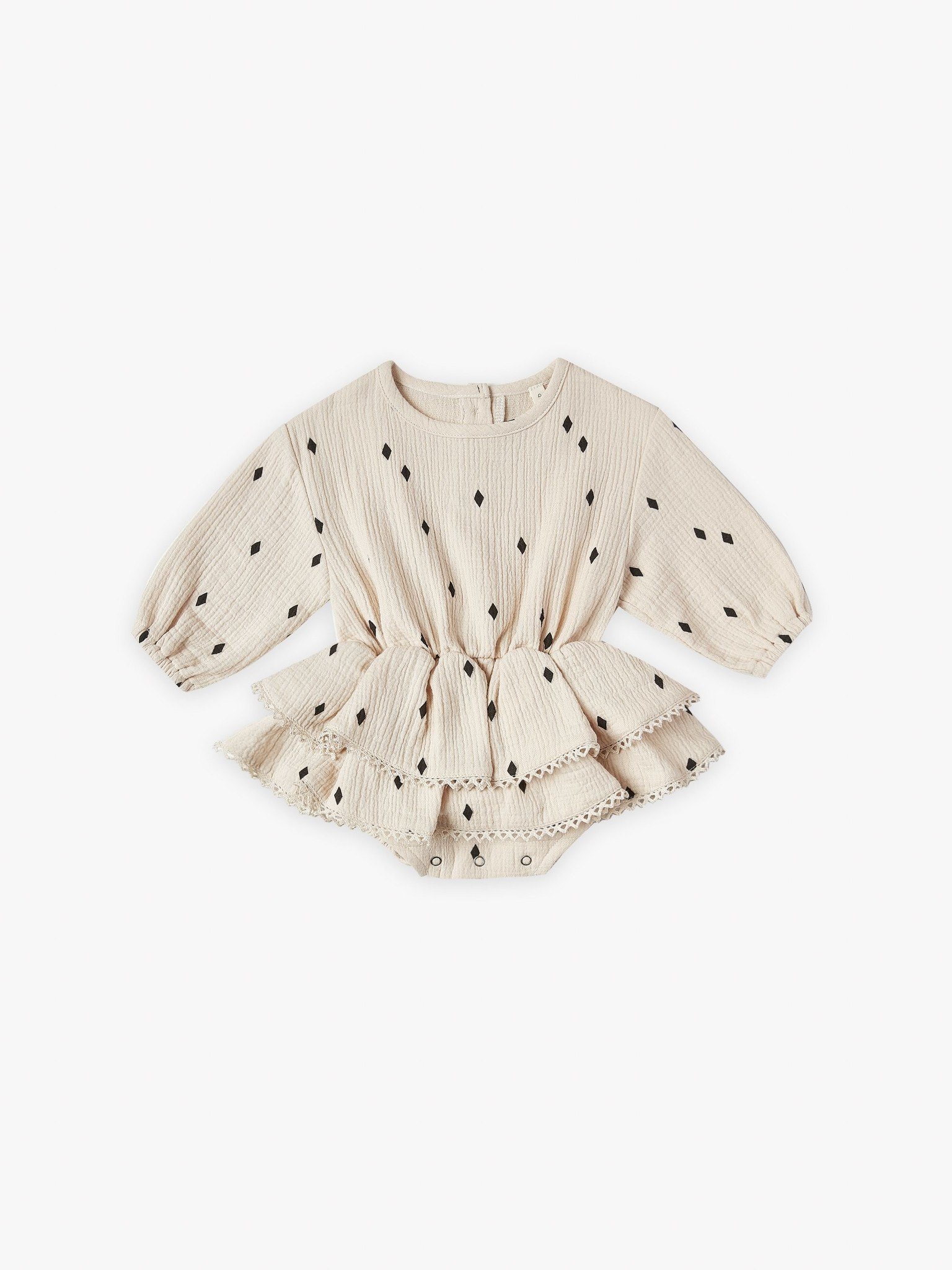 Quincy Mae Rosie Romper Natural