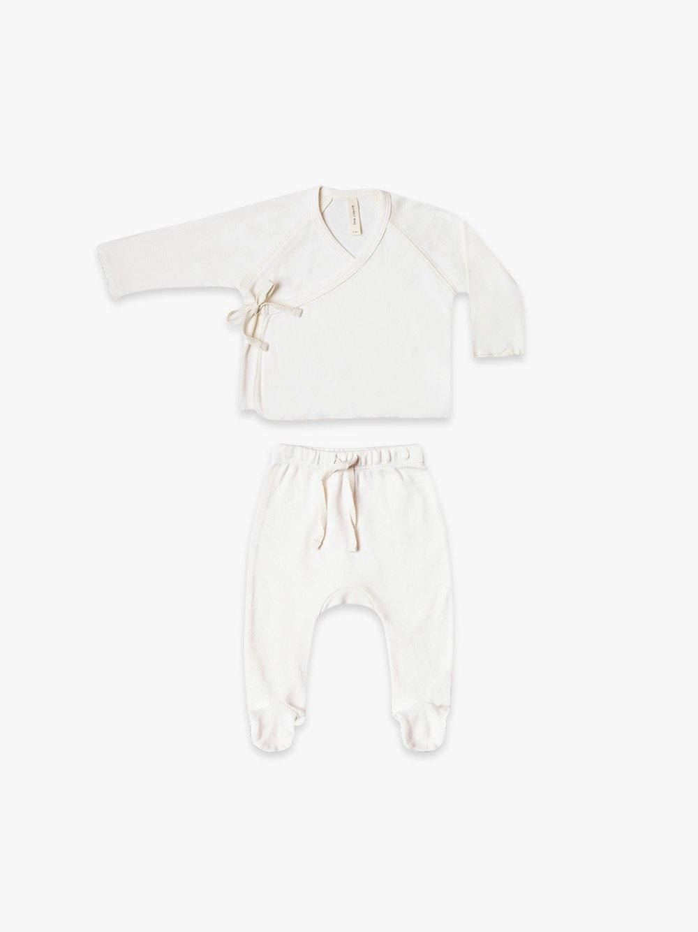 Quincy Mae Kimono Top+Pant Set ivory