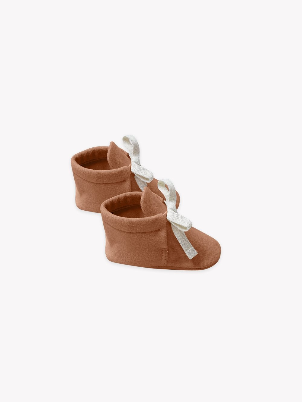 Quincy Mae Baby Booties Rust