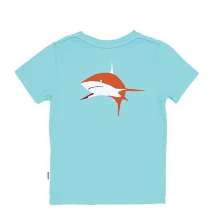 Feather 4 Arrow Bahama Blue Shark Tee