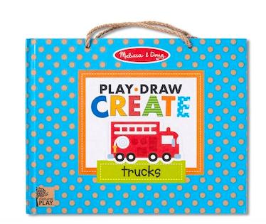 Melissa & Doug Play, Draw, Create - Trucks