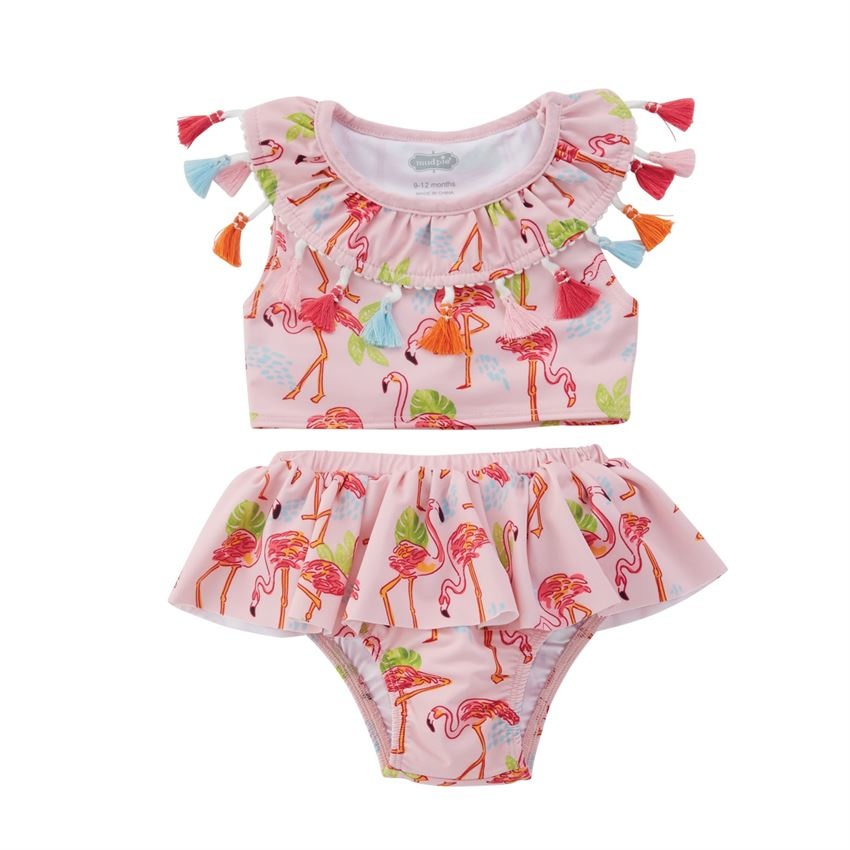 Mudpie Tassel Flamingo2PC Swimsuit