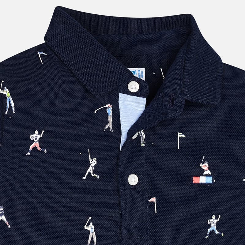 Mayoral Blue Sports Polo