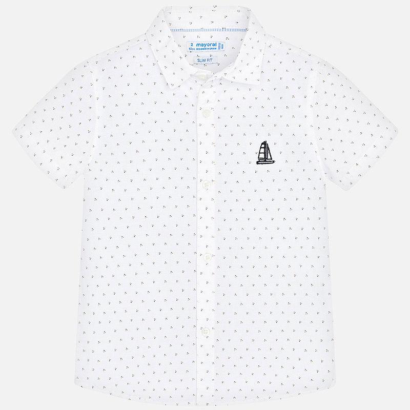 Mayoral White Micro Stamp Shirt