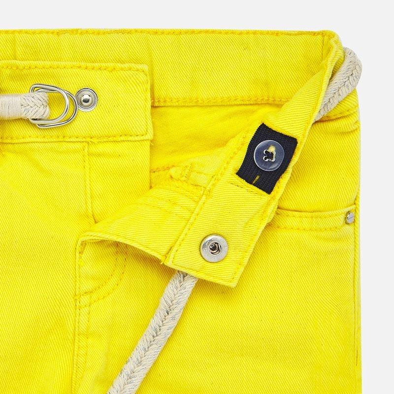 Mayoral Yellow Basic Shorts Girl