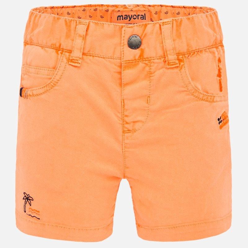 Mayoral Mango Embroidered Shorts