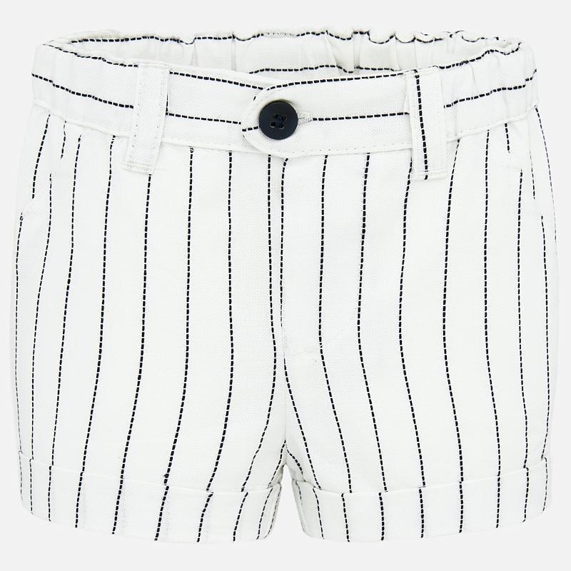Mayoral Boy Stripe White Shorts