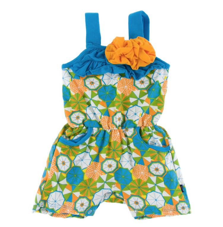 Kickee Pants Beach Umbrellas Flower Romper