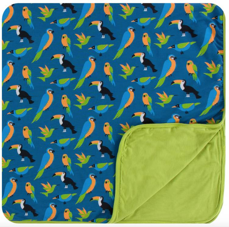 Kickee Pants Twilight Tropical Birds Swaddle