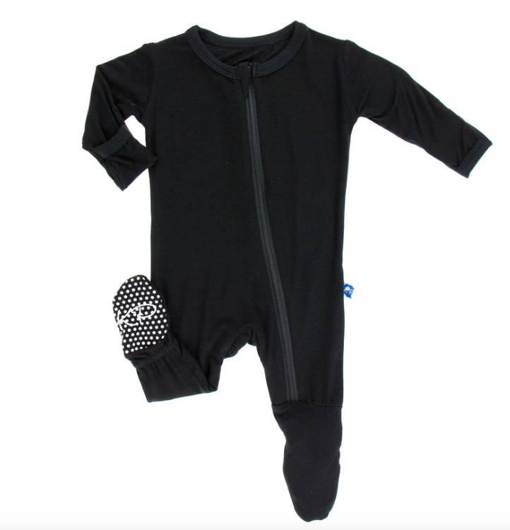 Kickee Pants Midnight Footie w/ Zipper