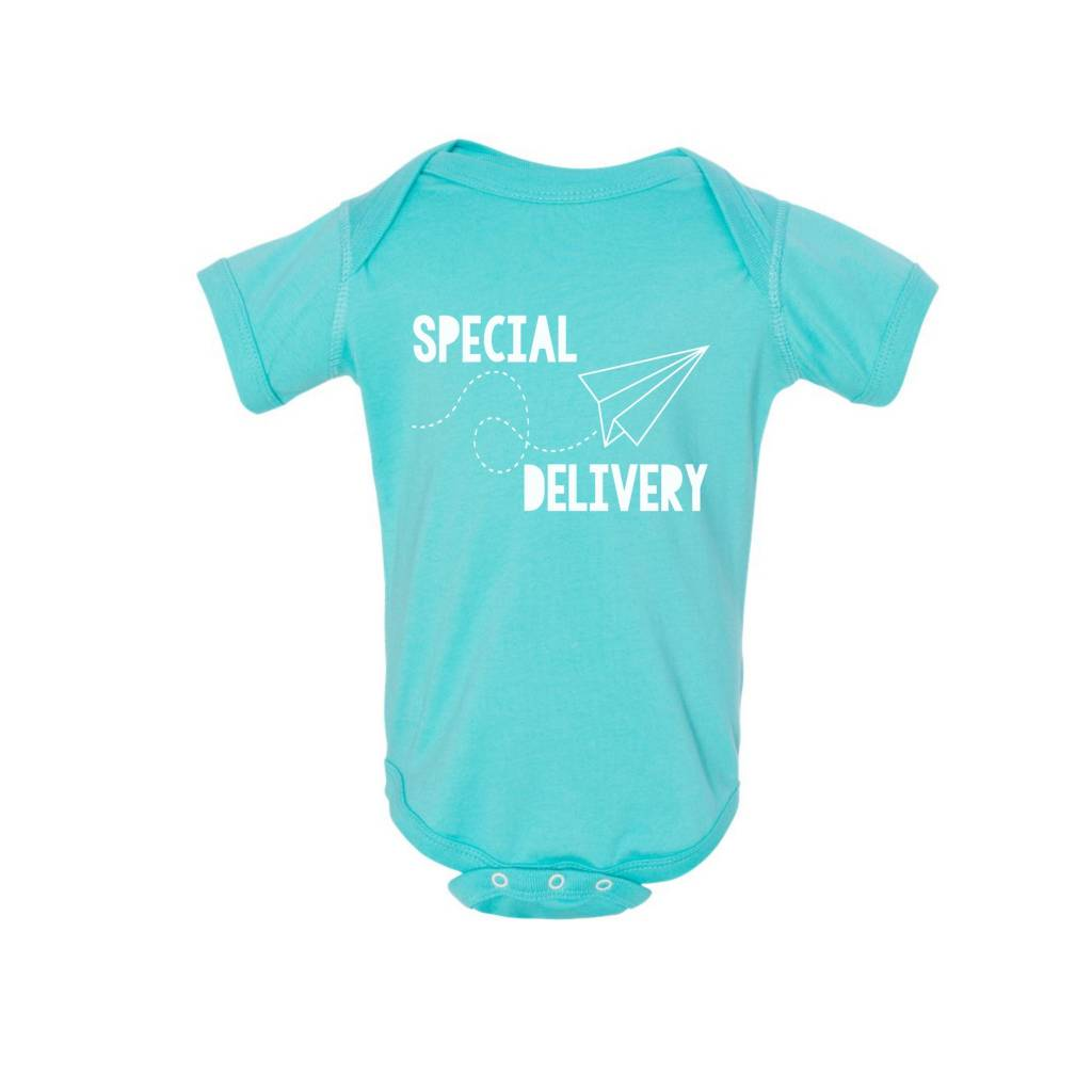 Annie & Olivers + Fat Bear Designs Special Delivery Onesie