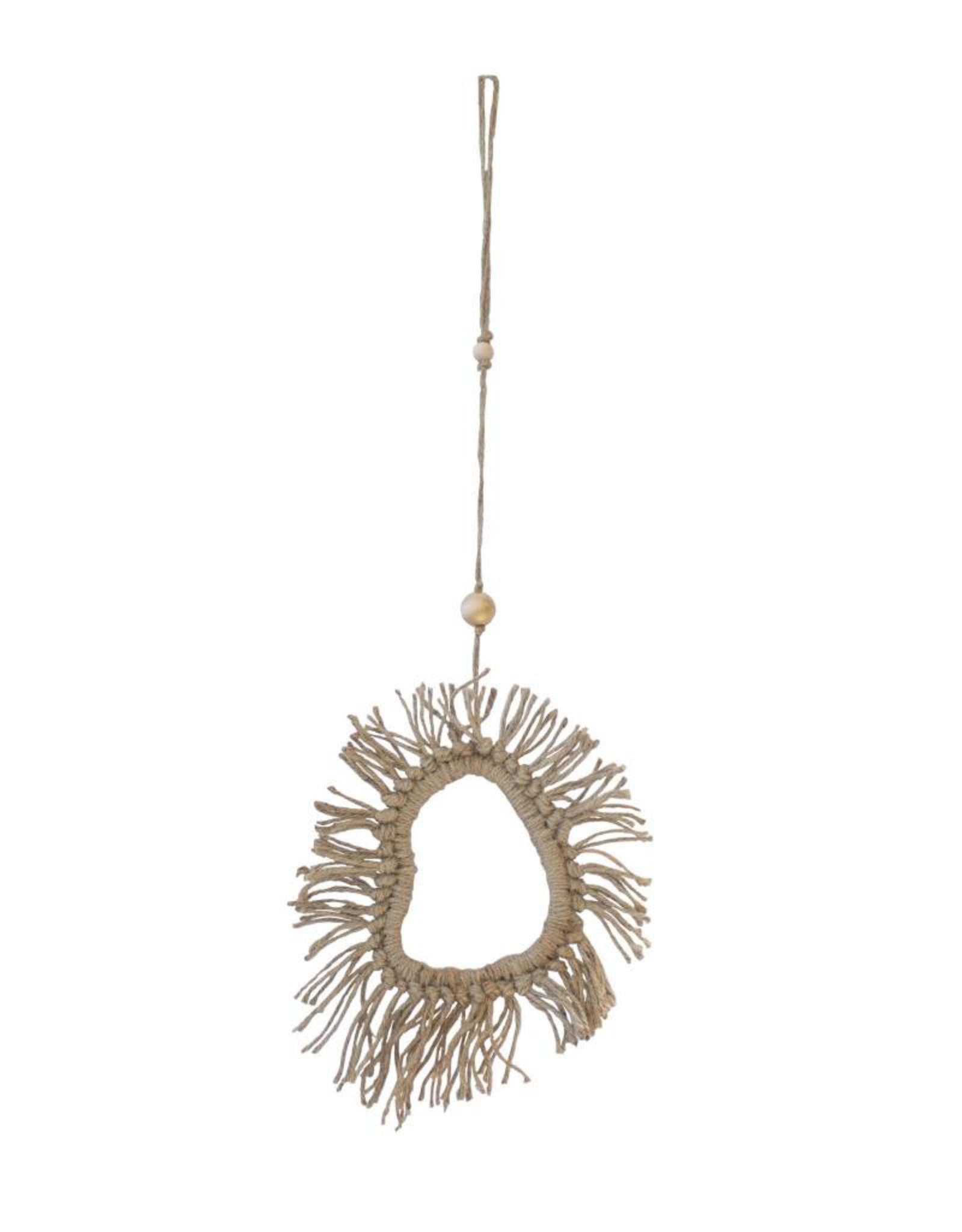 Entouquet Simple Jute Tassel Clay Hanging