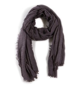 Pom Pom at Home Lightweight Frayed Scarf - Grey