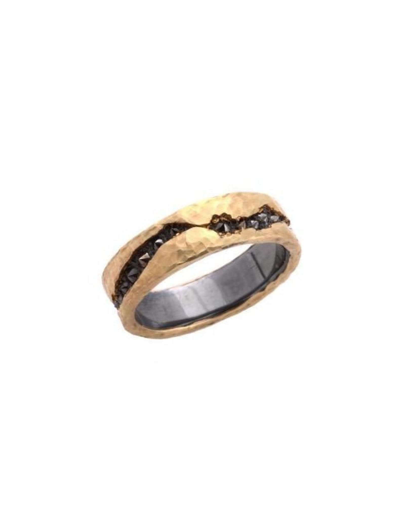 TAP by Todd Pownell Fissure Ring with Inverted Diamonds - 18K Yellow Gold