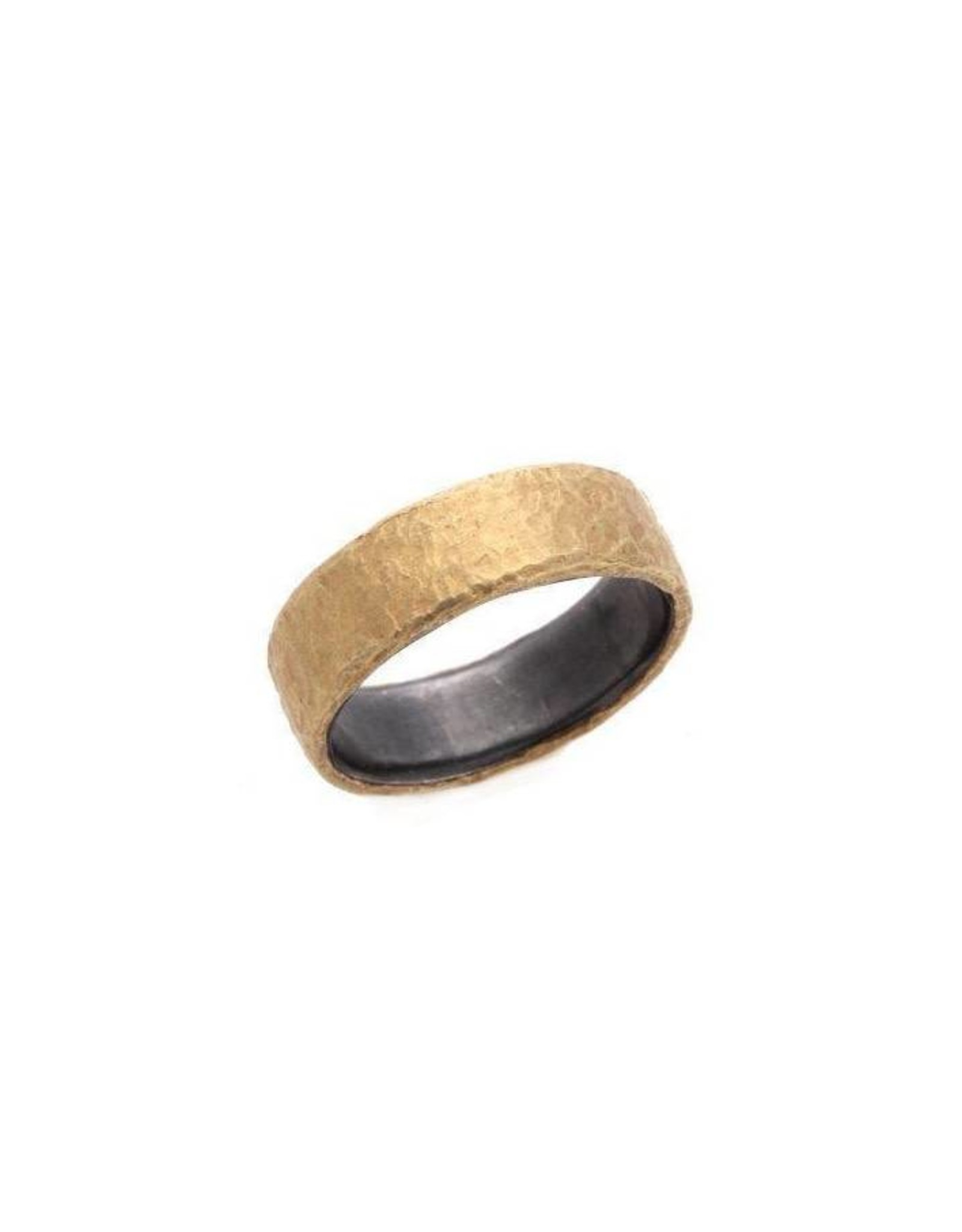 TAP by Todd Pownell Rustic Hammered Band - 18K Yellow Gold