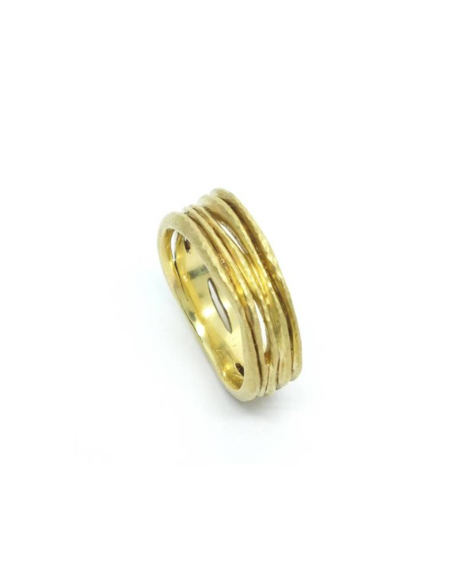 TAP by Todd Pownell Gold Wavy Ring with 5 Rows