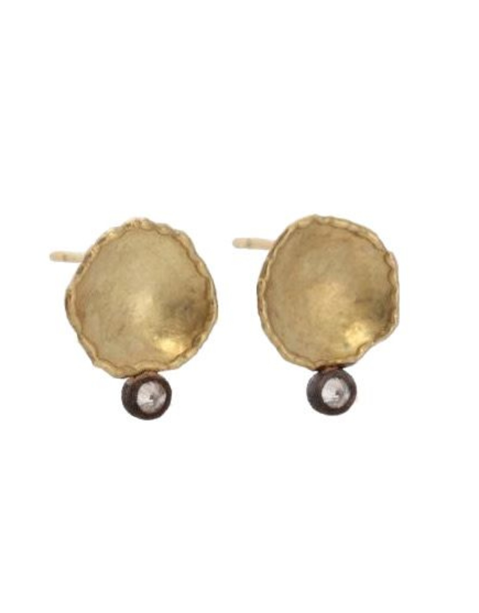 TAP by Todd Pownell Irregular Disc Earrings with Diamonds