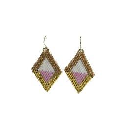 Bluma Project Diamante Earrings - Pink/Multi