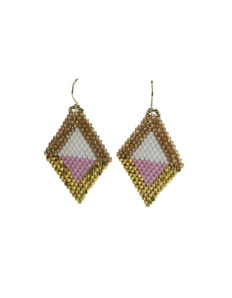 Bluma Project Diamante Earrings - Pink/Multi