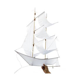 Haptic Lab Sailing Ship Kite - White