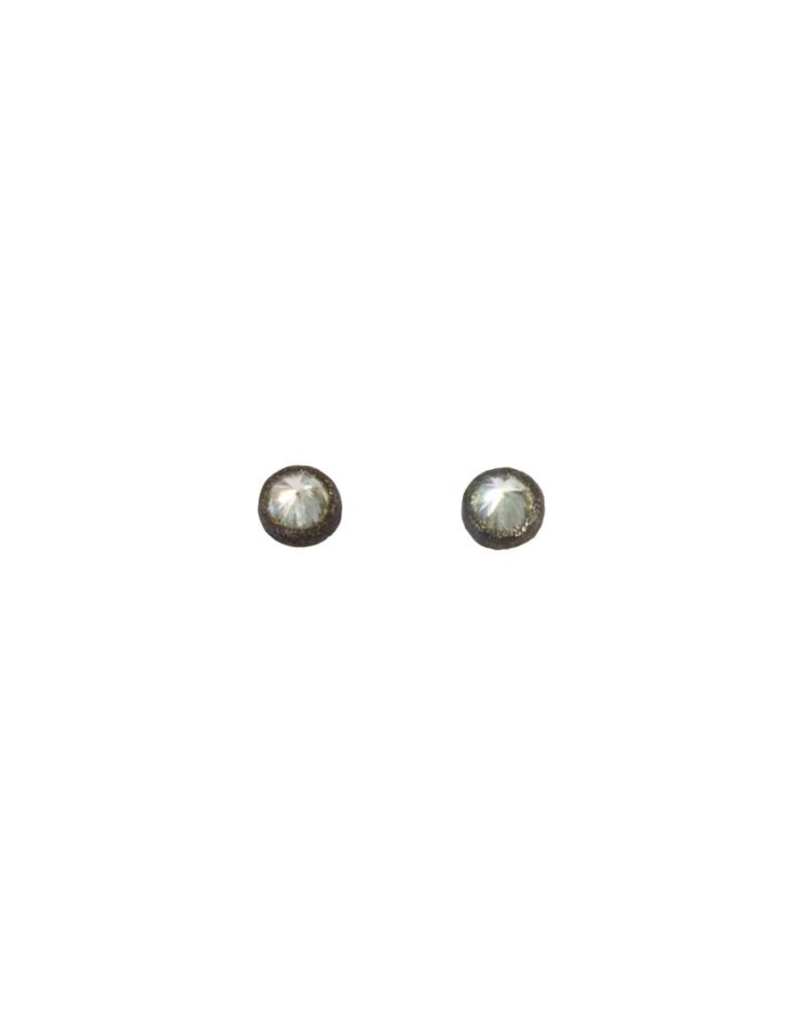 TAP by Todd Pownell Inverted Single Diamond Studs - Darkened White Gold
