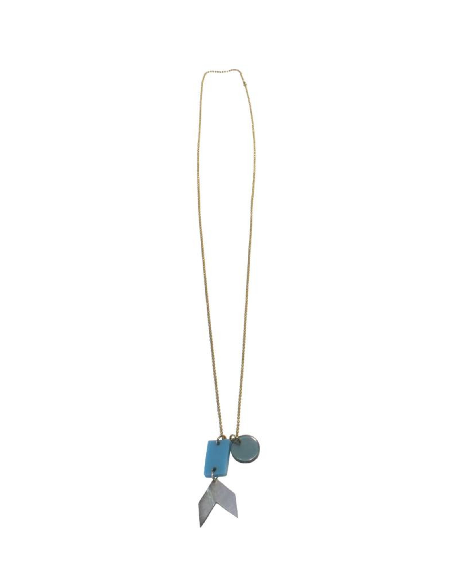 Bluma Project Charm Necklace - Turquoise/Multi
