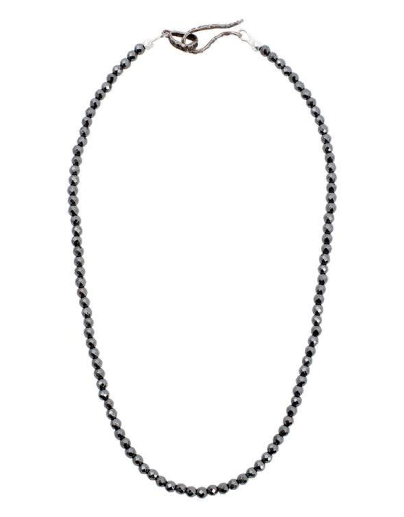 Lauren Wolf Jewelry Strand Necklace - Large Hematite