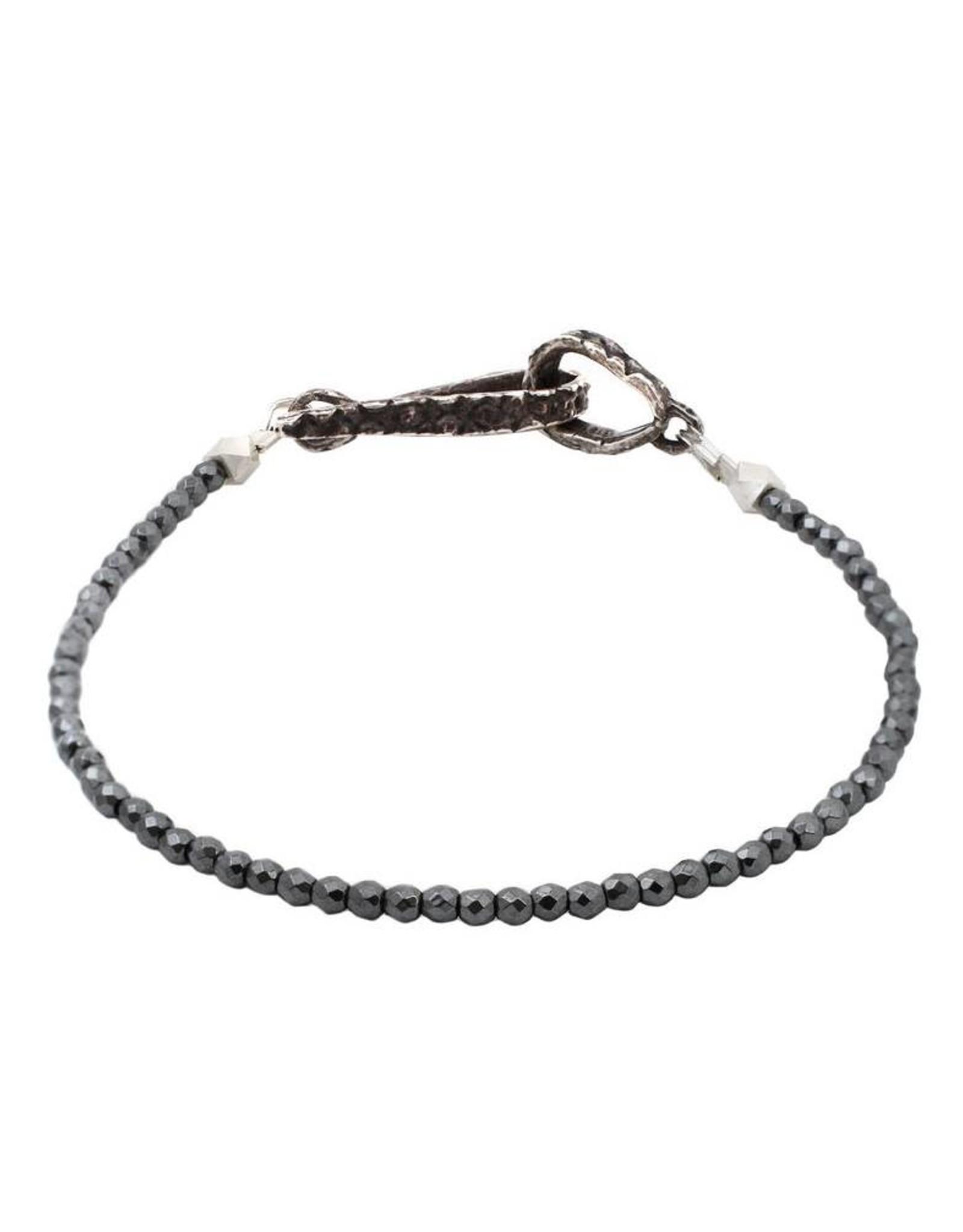 Lauren Wolf Jewelry Strand Bracelet - Hematite