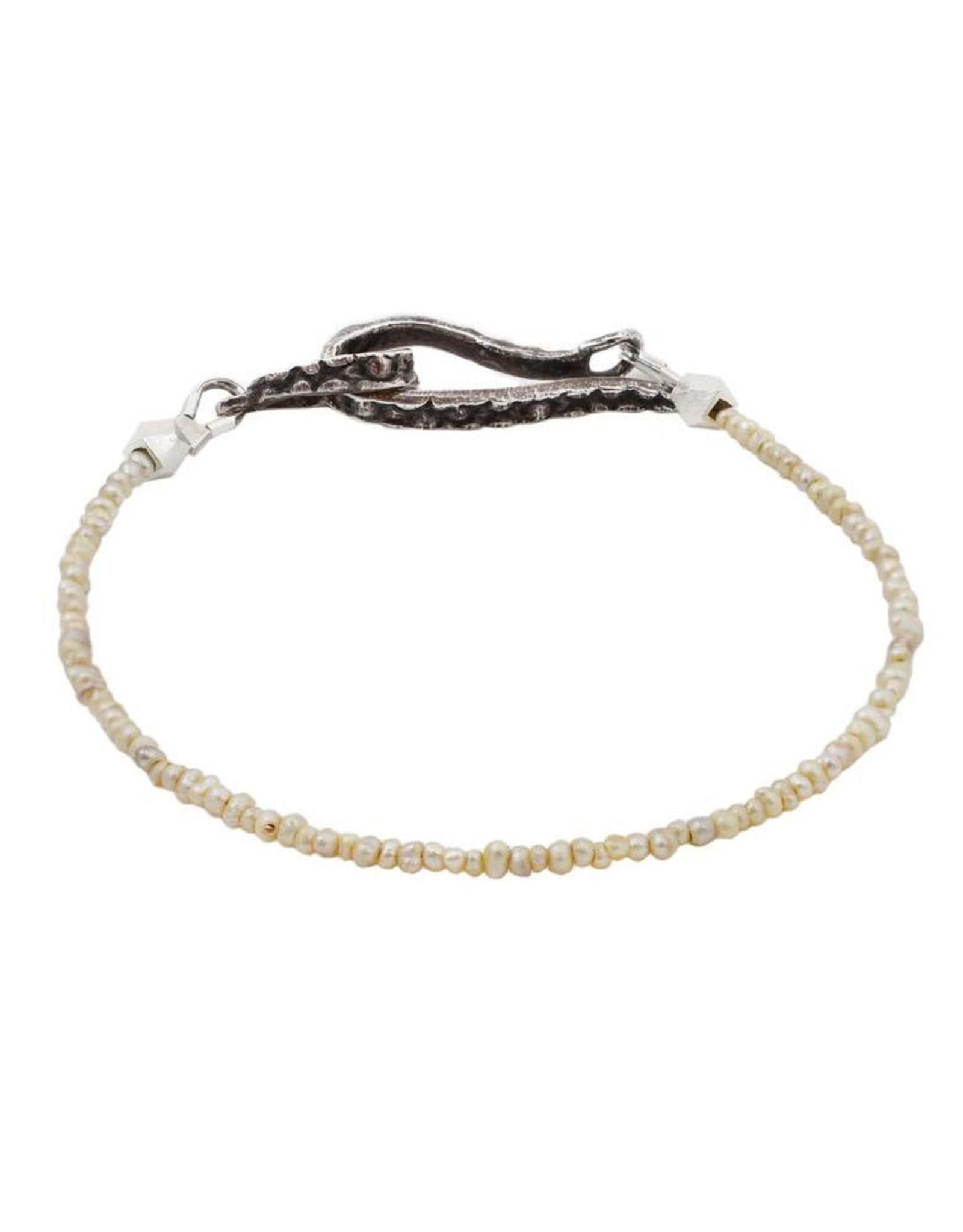 Lauren Wolf Jewelry Strand Bracelet - Pearl