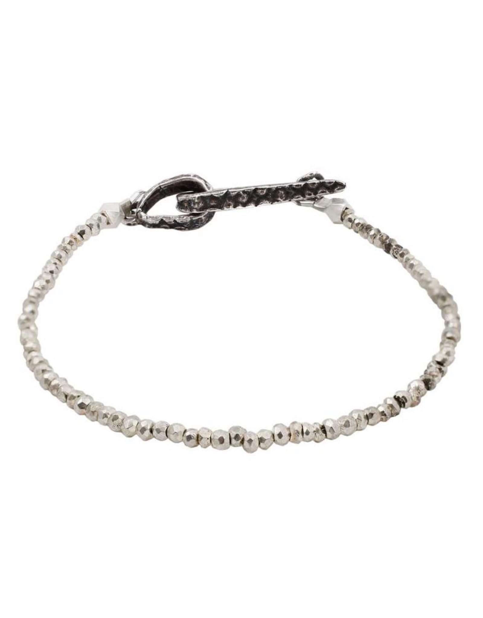 Lauren Wolf Jewelry Strand Bracelet - Silver Pyrite