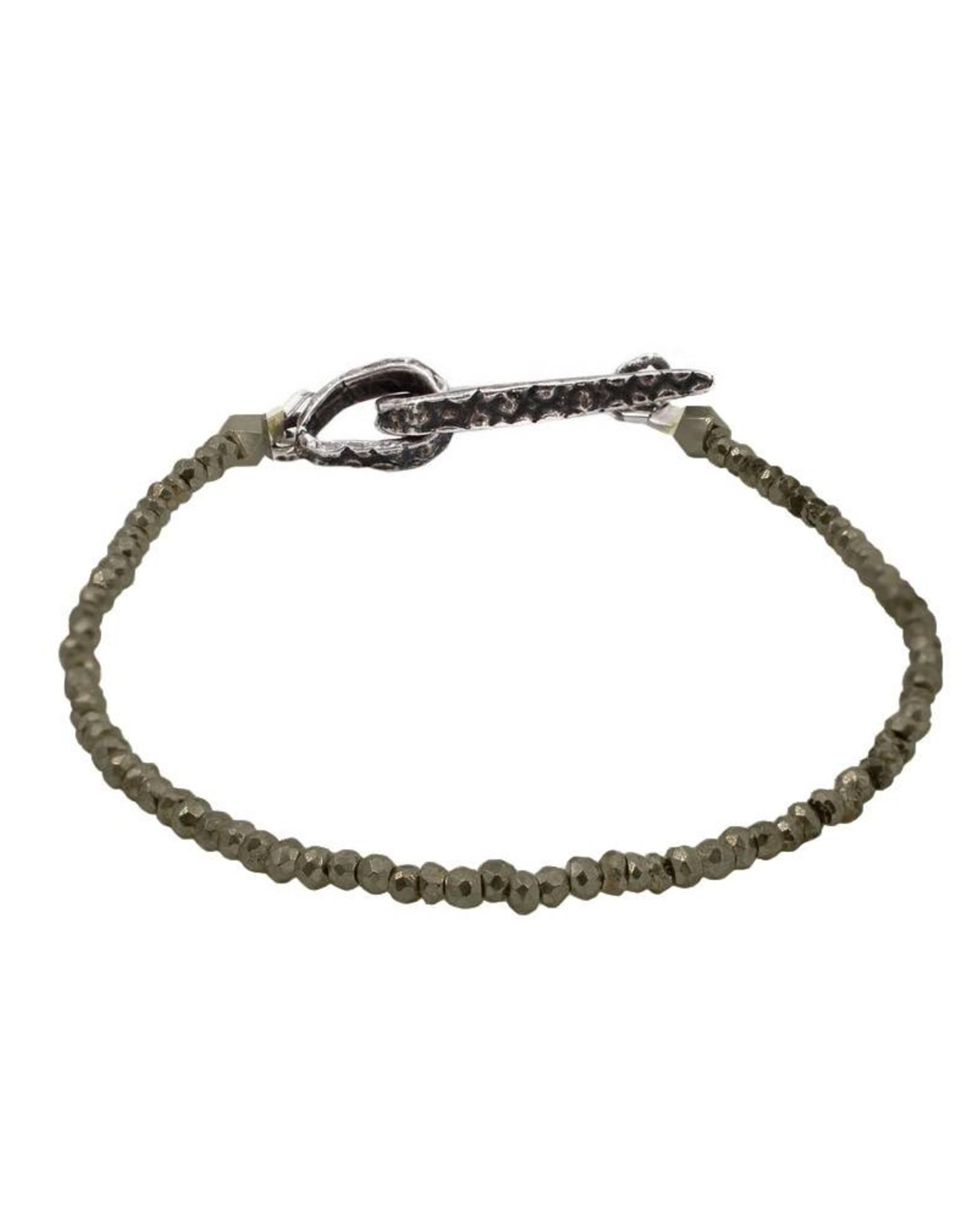 Lauren Wolf Jewelry Strand Bracelet - Pyrite
