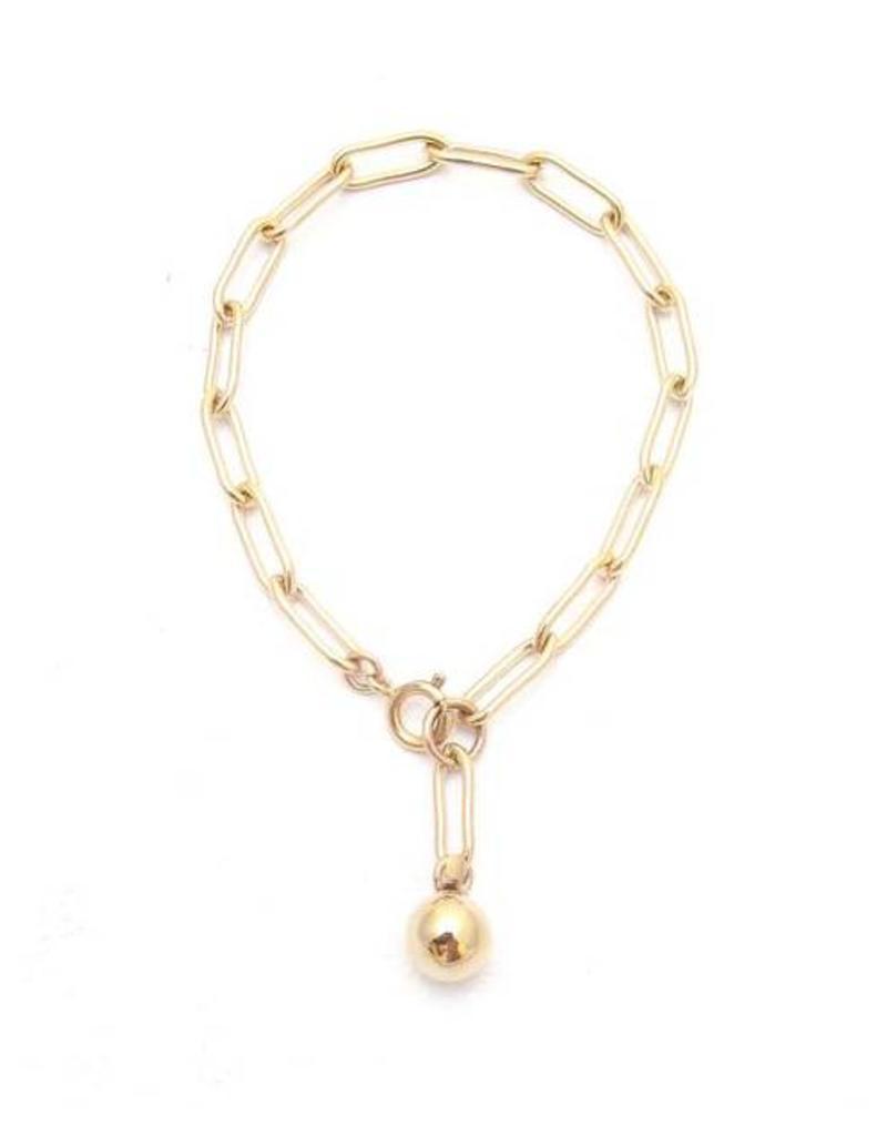 Jacqueline Rose Ball + Chain Bracelet - Gold