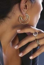 Jacqueline Rose Crystal Globe Ring - Silver